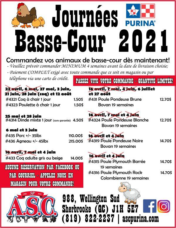 poule 2021 maj 28.04.21